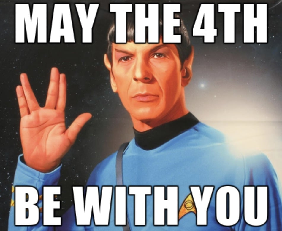 Dank Star Trek Meme about May the 4th Be With You - Spock FTW Funny Star Wars Memes – Perfect For May the Fourth Day / Star Wars Day #starwars #funny #funnypictures #maythe4thbewithyou #maytheforcebewithyou #maythefourthbewithyou #starwarsmemes #jedi #startrek