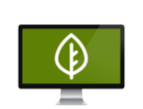 Digital Organics logo on blur screen