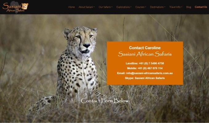 Sasiani African Safaris Contact