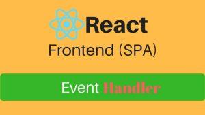 react event handler