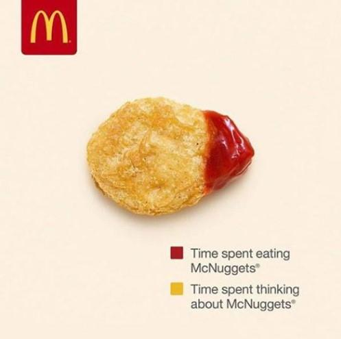 McDonald's ad with chicken mcnugget
