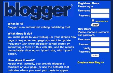 blogger old version