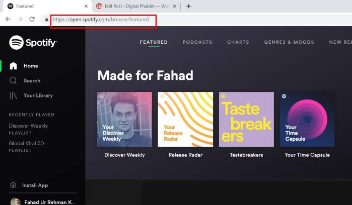 free spotify on desktop pakistan