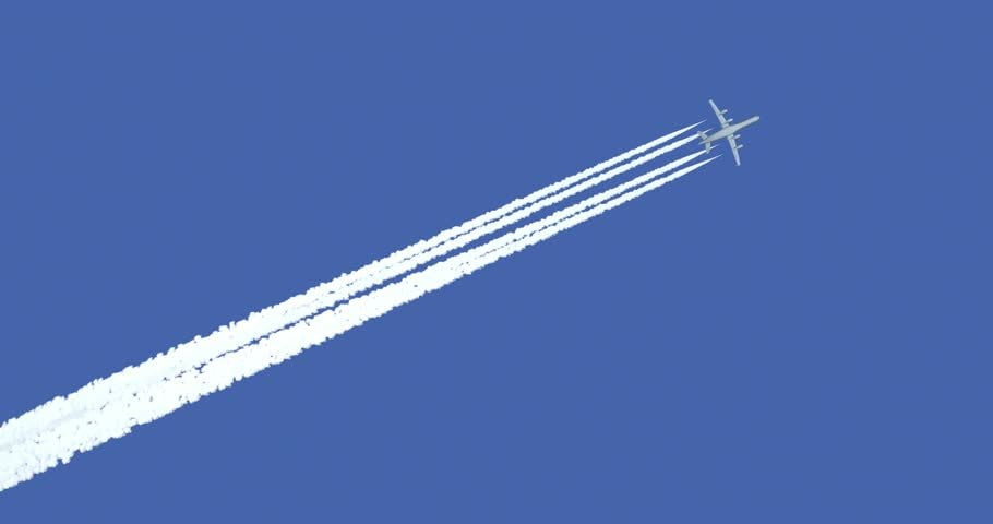 Airplanes Leave White Smoke In The Sky