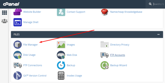 filemanager cpanel