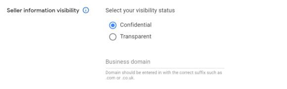seller information visibility