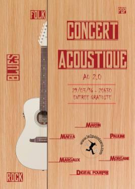Affiche concert au 2.0 Etréchy - 29/03/16