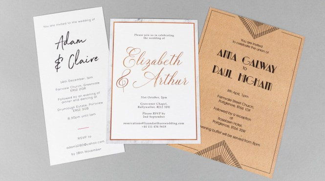 Flat Wedding Invitation Printing Ireland Print