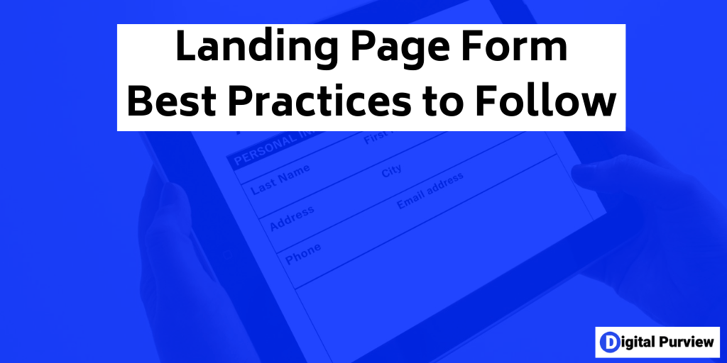 landing page form best practices