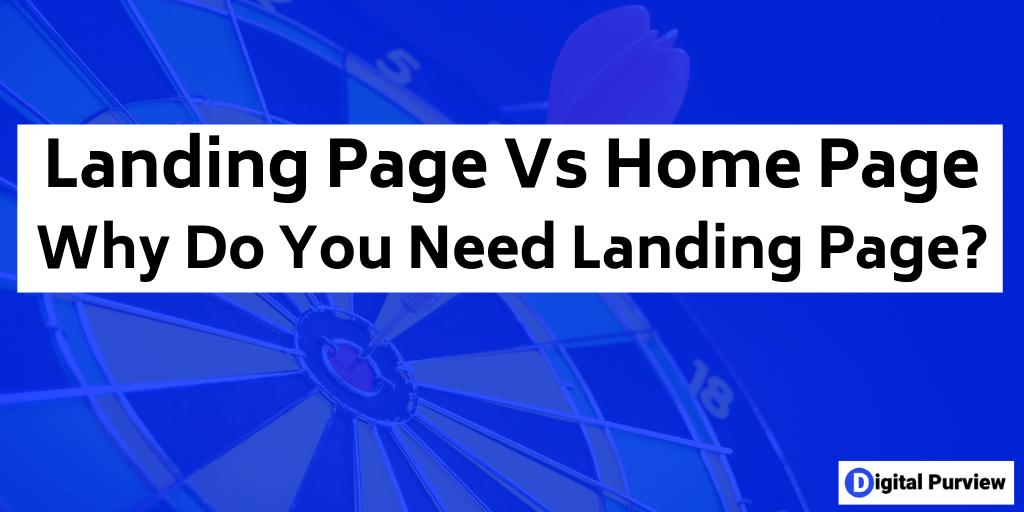 purpose of landing page