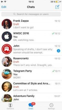 Telegram mesaj taslakları