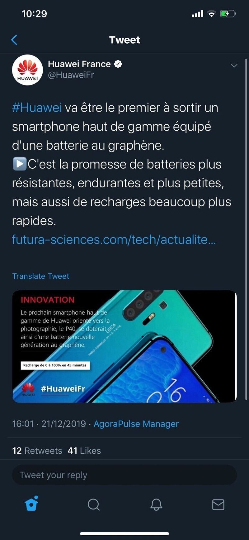 Huawei P40 şarj
