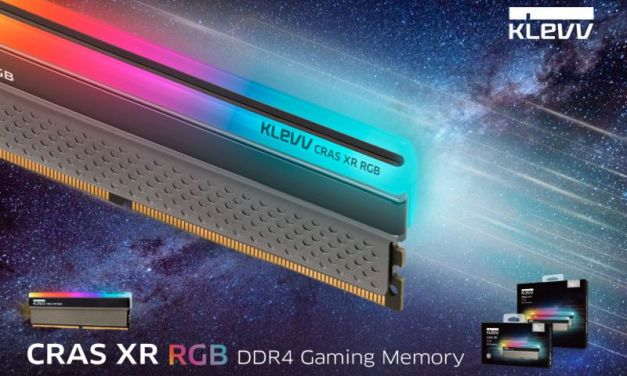 "KLEVV Launches CRAS XR RGB and BOLT XR DDR4 Gaming Memory, featuring ""Creative Evolution"" brand spirit"