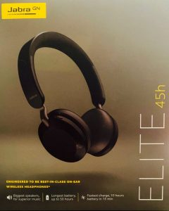 Jabra Elite 45h headphone packaging