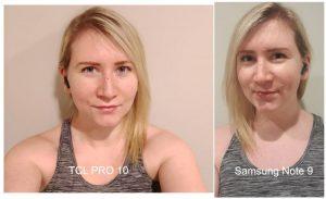 Jo selfie comparison