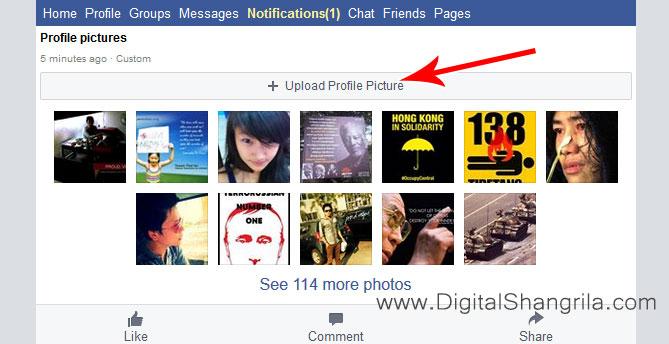 Upload Profile Picture Button