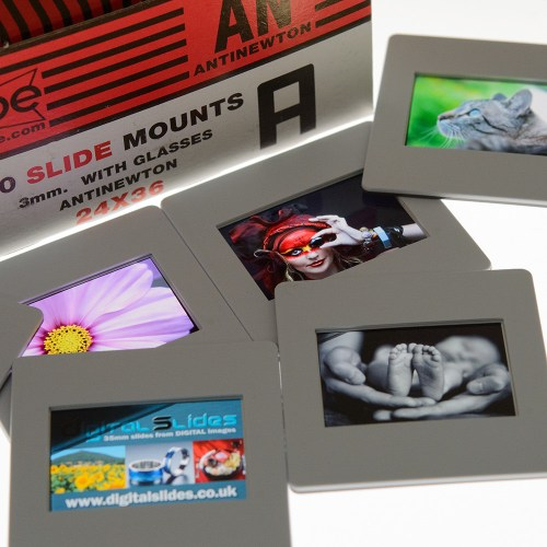 Glass mounted slides