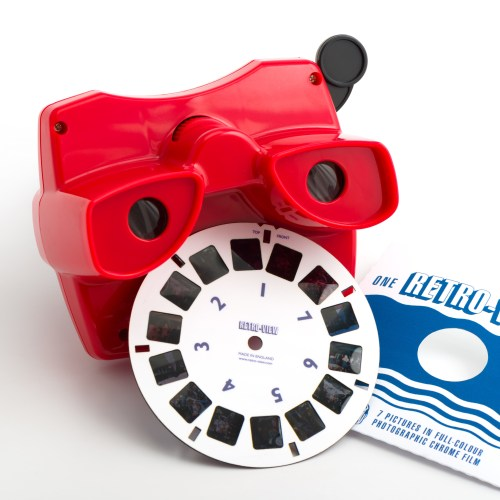 Retro-View reel and viewer