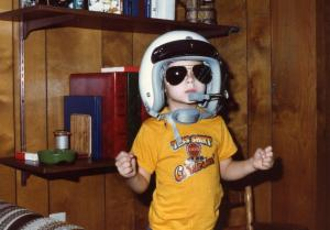 Yours truly at age five, ready for the bush pilot life