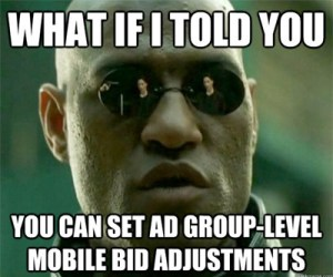 Mobile-bid-adjustment