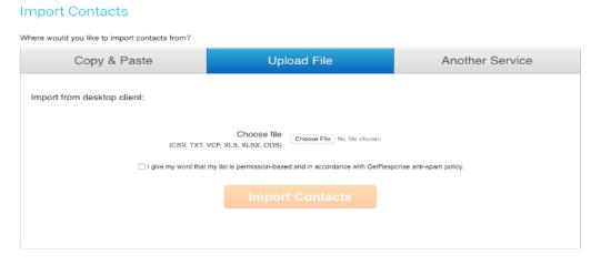 Upload Email List