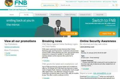 FNB Online ranked top for Internet Banking 2nd time in a row