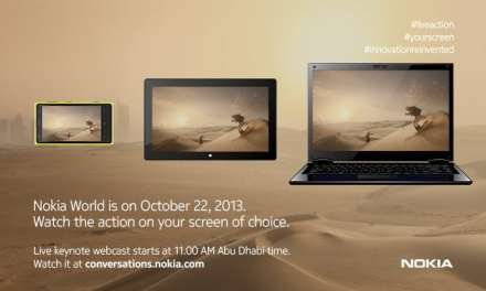 Nokia World Webcast, Tune in tomorrow (22nd October) – live from Nokia World Abu Dhabi