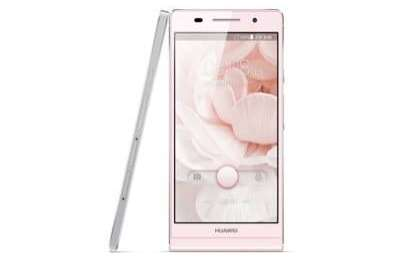 The Huawei Ascend P6 smartphone now available in Pink