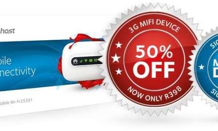 Afrihost offers 50% Off 3G Mifi