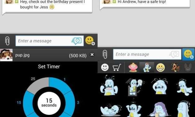 BBM now allows for message retraction and timed pictured sharing
