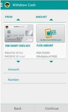 FNB expands cardless features with cardless cash withdrawals on App
