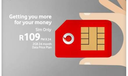 Get 2GB data on Vodacom now for just R109pm