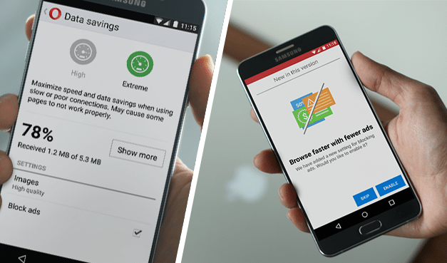 Native ad blocker launches in Opera Mini for Android