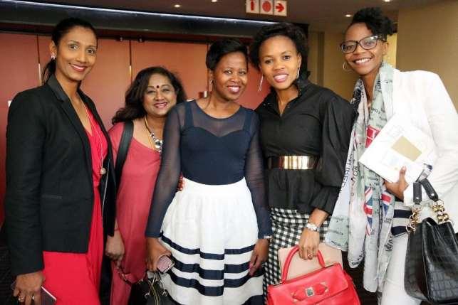 Uraisha Haswell, Hazel Pillay, Khosi Duma, Boni Mchunu (East Coast Radio's General Manager) and Buhle Gorrie.