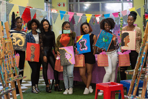 ALCATEL was art jamming in celebration of Women's Month