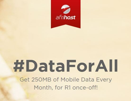 #DataForAll – Get 250MB Data on Your Phone Each Month for Only R1.00