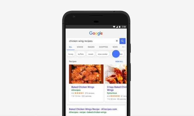 Revamped Carousel UI For Recipes In Google's Search App Update