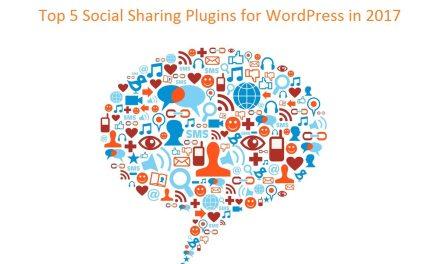 Top 5 Social Sharing Plugins for WordPress in 2017