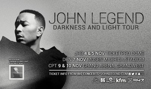 John Legend Darkness And Light Tour Coming To South Africa
