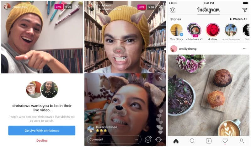 How to add a friend on instagram live