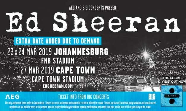 Ed Sheeran: Extra Johannesburg Date Announced!