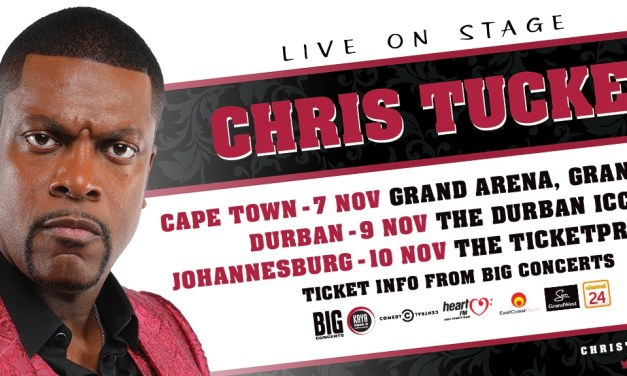 International award-winning actor and comedian Chris Tucker is coming to South Africa