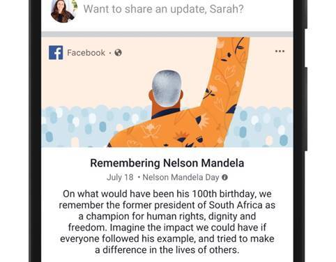 Facebook Celebrates Centenary of Nelson Mandela's Birth by Inspiring Global Community to Take Action