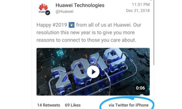 Huawei punishes staff with pay cuts for tweeting via iPhone
