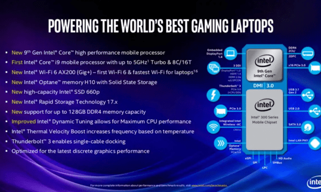 Intel 9th Gen Core i9, Core i7, Core i5 CPUs for Gaming Laptops Unveiled Along With New 9th Gen Desktop CPUs