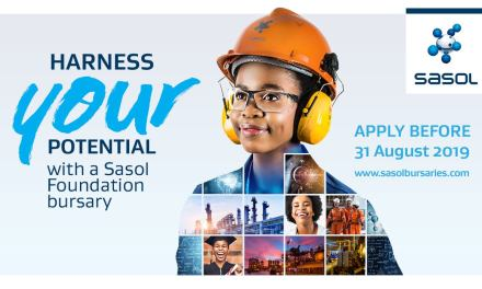 Sasol Foundation opens bursary applications for 2020 academic year – just three weeks left to apply!