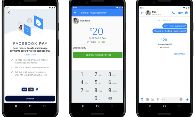 Facebook Pay Launched! Send Money on Instagram, Messenger and WhatsApp