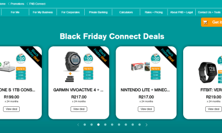 FNB Connect Black Friday smartphones and other gadgets, payable over 24 months