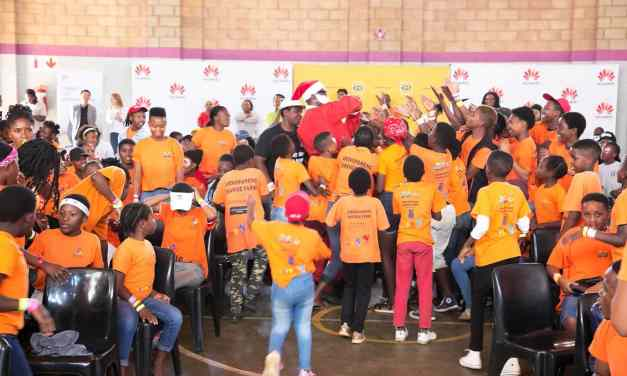 Early Christmas cheer, with MTN SA Foundation, Huawei SA and Dept of Social Services