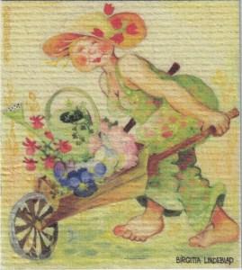 Disktrasa med motiv av Flora Birgitta Linderholm